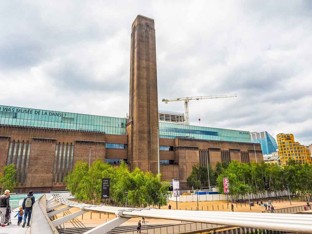 Tate Modern on the banks of the Thames