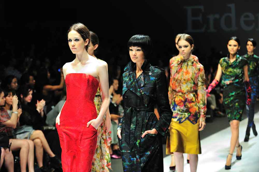 Catwalk at an Erdem Moralioglu fashion show