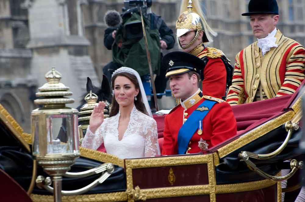 Kate Middleton in a Sarah Burton dress at her wedding